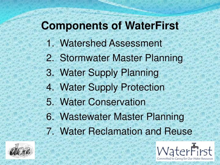 Components of WaterFirst