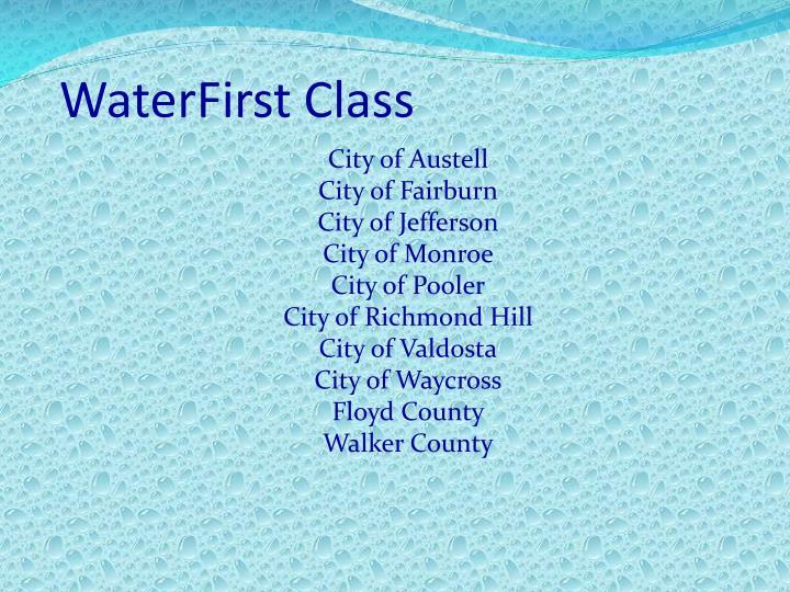 WaterFirst Class