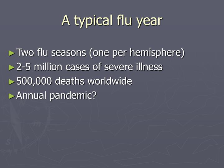 A typical flu year