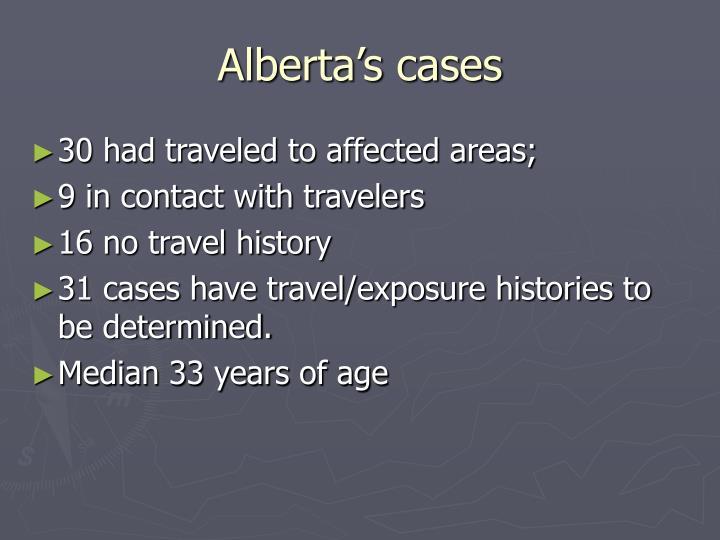 Alberta's cases