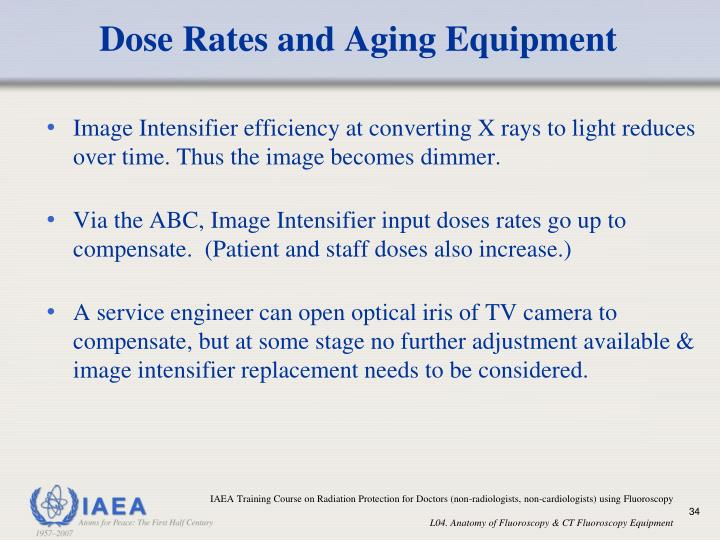 Dose Rates and Aging Equipment