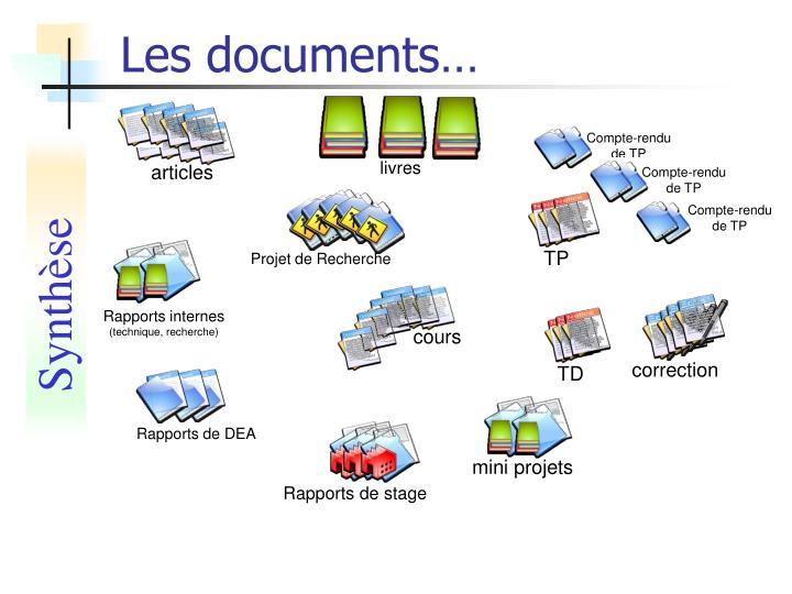 Les documents…
