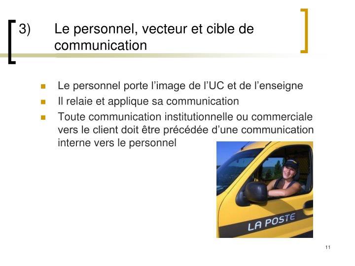 3)Le personnel, vecteur et cible de communication