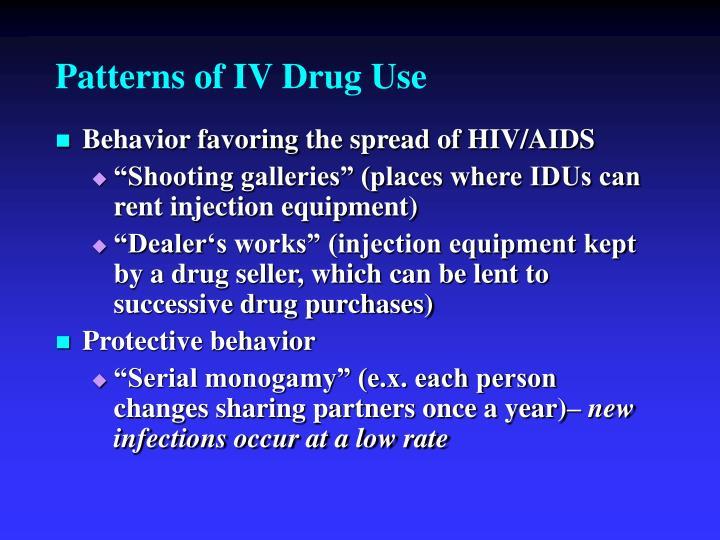 Patterns of IV Drug Use