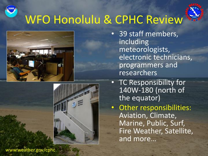 Wfo honolulu cphc review