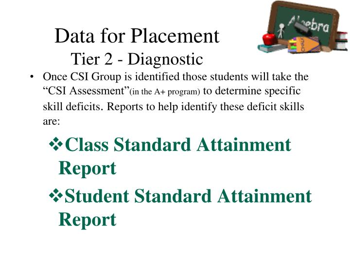 Data for Placement