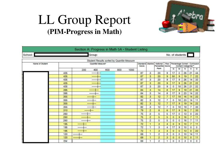 LL Group Report