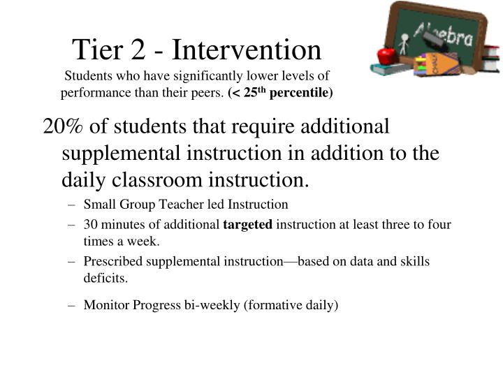 Tier 2 - Intervention