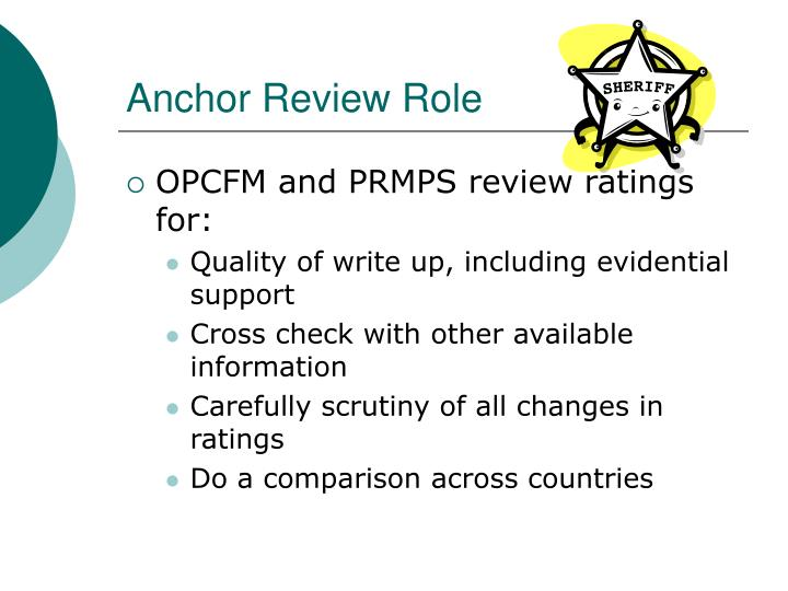 Anchor Review Role