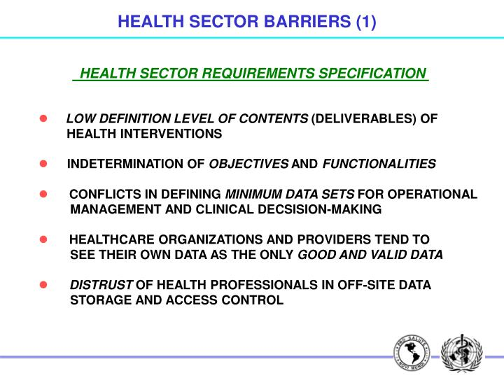 HEALTH SECTOR BARRIERS (1)