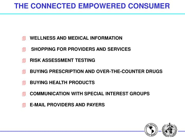 THE CONNECTED EMPOWERED CONSUMER