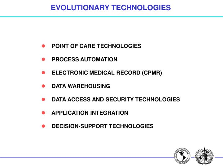 EVOLUTIONARY TECHNOLOGIES