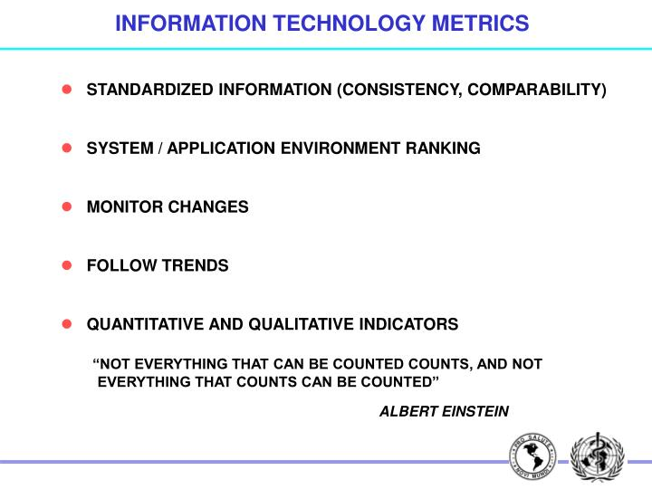 INFORMATION TECHNOLOGY METRICS