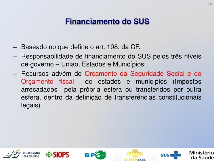 Financiamento do SUS