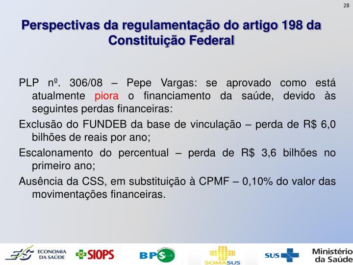 Perspectivas da regulamentação do artigo 198 da Constituição Federal
