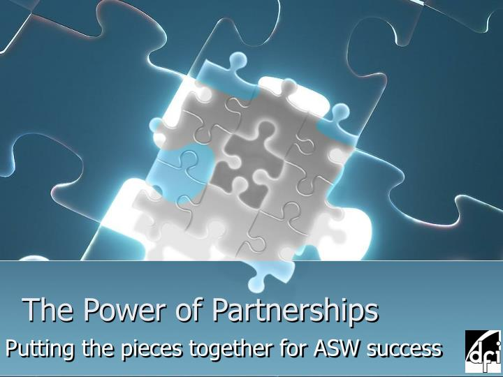 The power of partnerships
