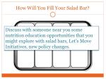 how will you fill your salad bar