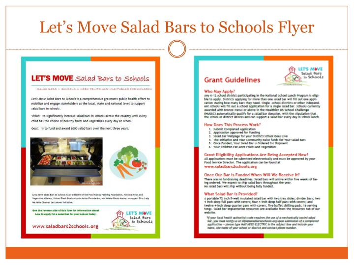 Let's Move Salad Bars to Schools Flyer