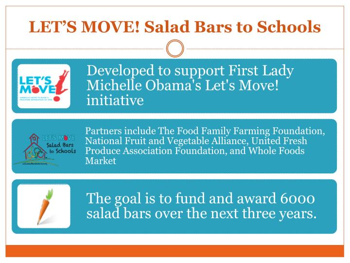 LET'S MOVE! Salad Bars to Schools