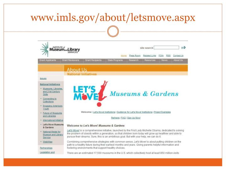 www.imls.gov/about/letsmove.aspx