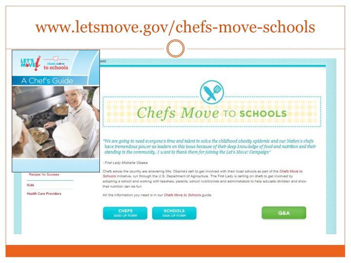 www.letsmove.gov/chefs-move-schools
