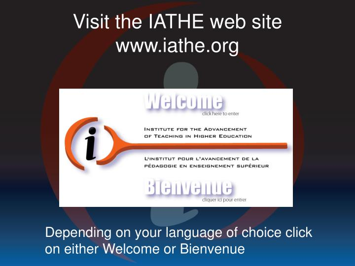 Visit the IATHE web site
