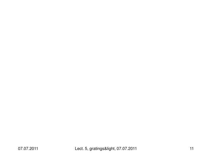 Lect. 5, gratings&light, 07.07.2011