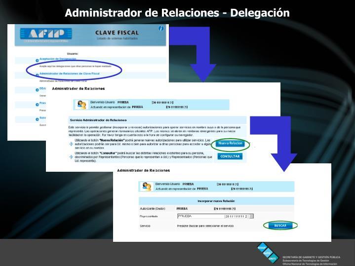 Administrador de Relaciones - Delegación