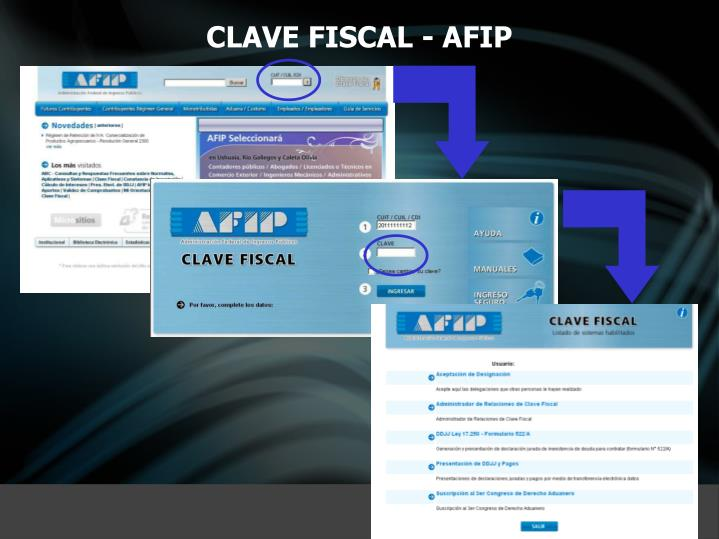 CLAVE FISCAL - AFIP