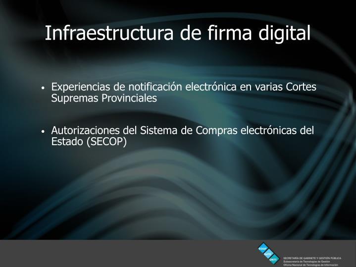 Infraestructura de firma digital