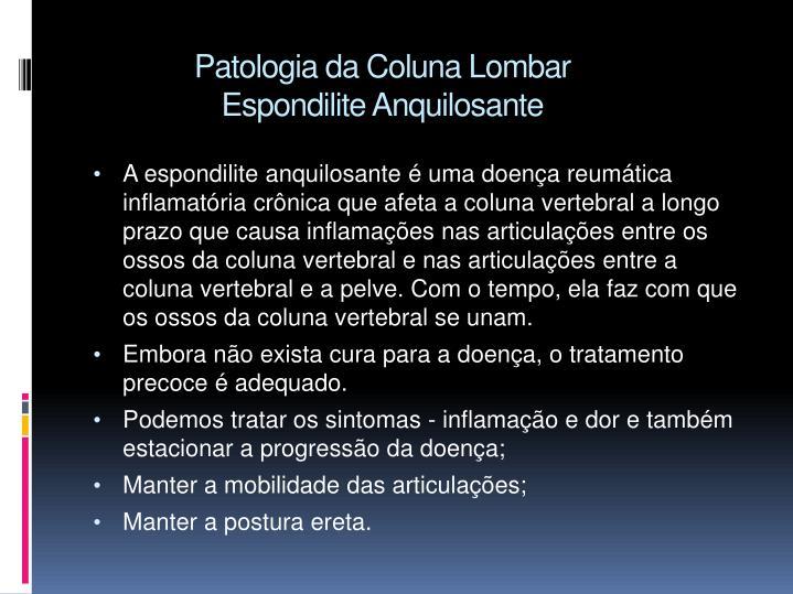 Patologia da Coluna Lombar