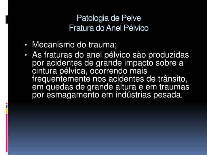 Patologia de Pelve