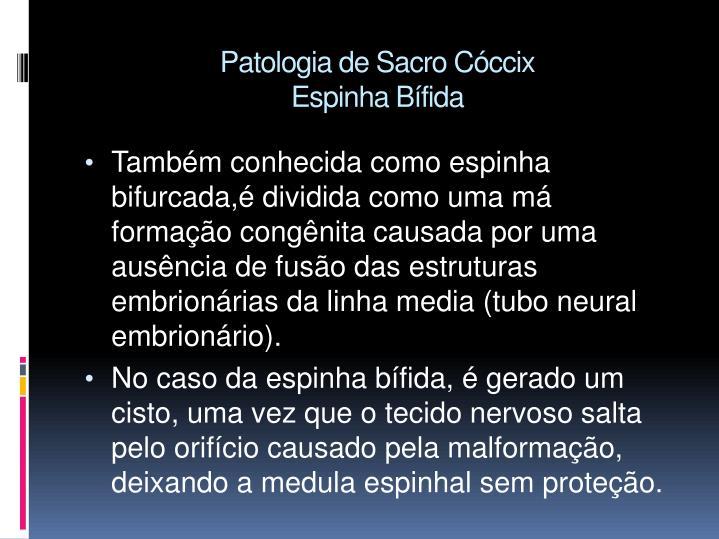 Patologia de Sacro Cóccix