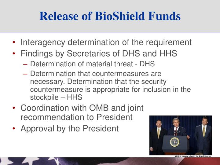 Release of BioShield Funds