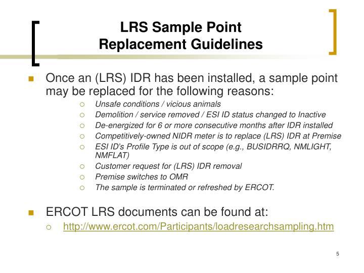 LRS Sample Point