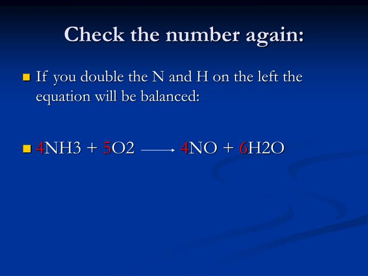 Check the number again: