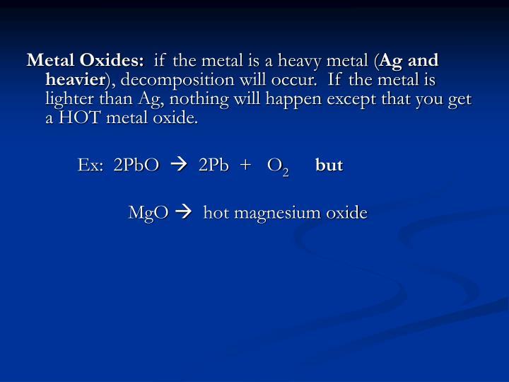 Metal Oxides:
