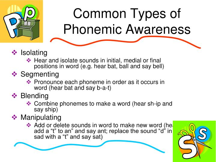 Common Types of Phonemic Awareness
