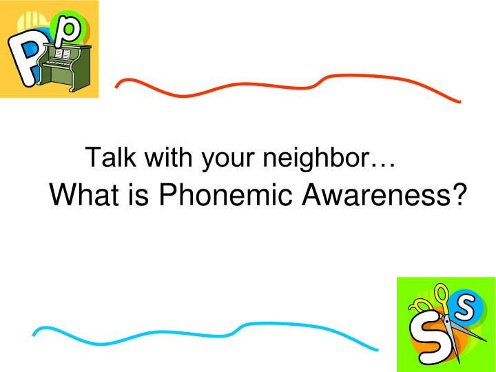 Talk with your neighbor…