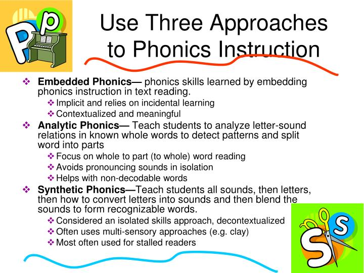 Use Three Approaches to Phonics Instruction