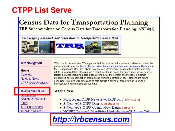 CTPP List Serve
