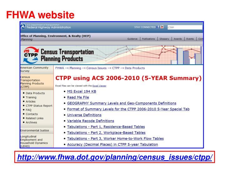 FHWA website