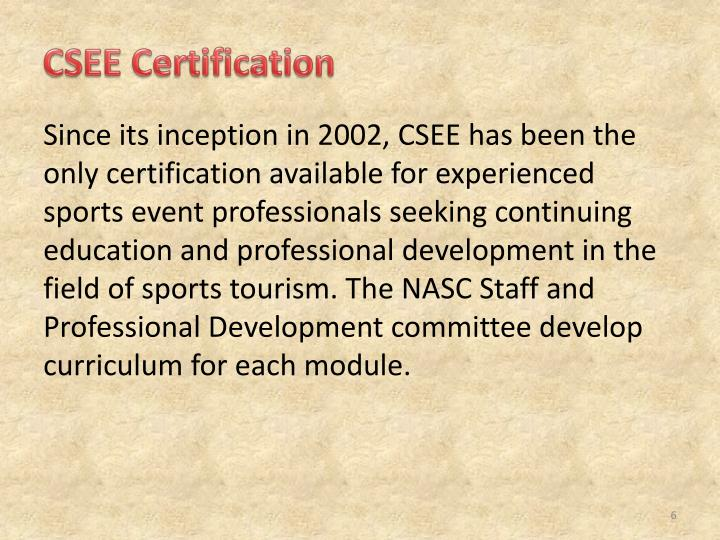 CSEE Certification