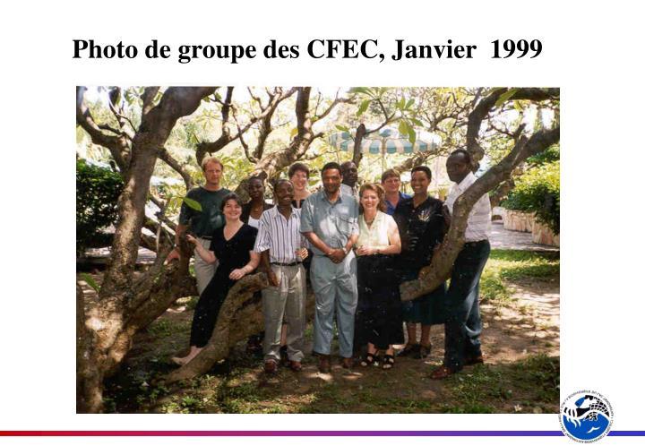 Photo de groupe des CFEC, Janvier  1999