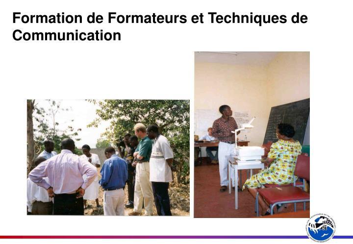 Formation de Formateurs et Techniques de Communication