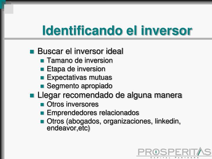 Identificando el inversor