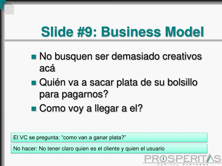 Slide #9: Business Model