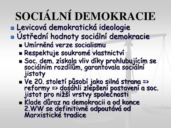 SOCIÁLNÍ DEMOKRACIE