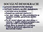 soci ln demokracie