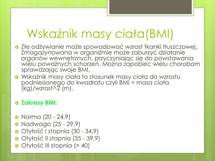 Wskaźnik masy ciała(BMI)